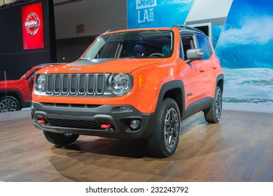Los Angeles, CA - November 19, 2014: Jeep Renegade Trailhawk 2015 on display on display at the LA Auto Show