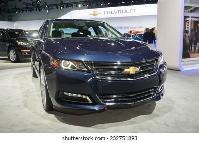 Los Angeles, CA - November 19, 2014: Chevrolet Impala LTZ 2015 on display on display at the LA Auto Show