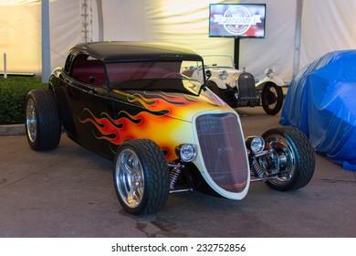 Los Angeles, CA - November 19, 2014: Hod Rod car on display on display at the LA Auto Show