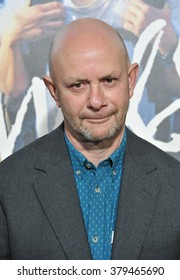 """LOS ANGELES, CA - NOVEMBER 19, 2014: Screenwriter Nick Hornby at the Los Angeles premiere of  his movie """"Wild"""" at the Samuel Goldwyn Theatre, Beverly Hills."""