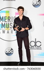 LOS ANGELES, CA - November 19, 2017: Shawn Mendes at the 2017 American Music Awards at the Microsoft Theatre LA Live
