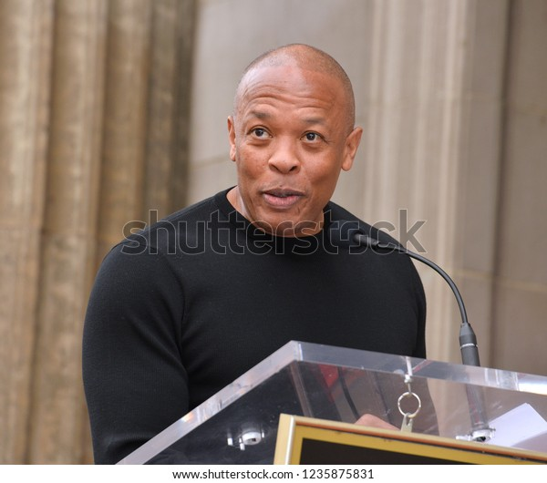 LOS ANGELES, CA. November 19, 2018: Dr Dre at the Hollywood Walk of Fame Star Ceremony honoring Snoop Dogg.Pictures: Paul Smith/Featureflash
