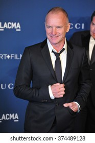 LOS ANGELES, CA - NOVEMBER 2, 2013: Sting at the 2013 LACMA Art+Film Gala at the Los Angeles County Museum of Art.