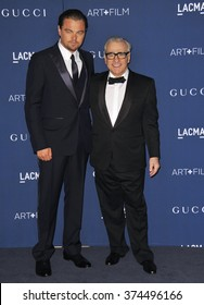 LOS ANGELES, CA - NOVEMBER 2, 2013: Leonardo DiCaprio (left) & Martin Scorsese at the 2013 LACMA Art+Film Gala at the Los Angeles County Museum of Art.Picture: Paul Smith / Featureflash