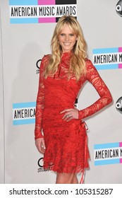 LOS ANGELES, CA - NOVEMBER 20, 2011: Sports Illustrated model Anne Vyalitsyna (Anne V) at the 2011 American Music Awards at the Nokia Theatre LA Live in Los Angeles November 20, 2011  Los Angeles, CA