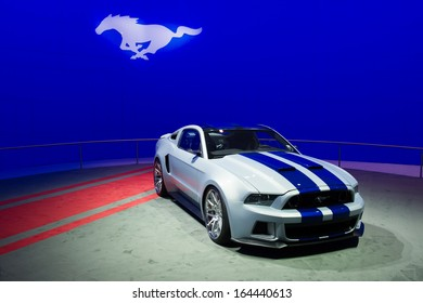 LOS ANGELES, CA - NOVEMBER 20: A Ford Mustang on exhibit at the Los Angeles Auto Show in Los Angeles, CA on November 20, 2013