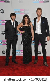 LOS ANGELES, CA - NOVEMBER 20, 2011: Lady Antebellum at the 2011 American Music Awards at the Nokia Theatre L.A. Live in downtown Los Angeles.