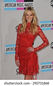 LOS ANGELES, CA - NOVEMBER 20, 2011: Sports Illustrated model Anne Vyalitsyna (Anne V) arriving at the 2011 American Music Awards at the Nokia Theatre, L.A. Live in downtown Los Angeles.