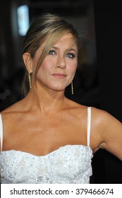 """LOS ANGELES, CA - NOVEMBER 20, 2014: Jennifer Aniston at the Los Angeles premiere of her movie """"Horrible Bosses 2"""" at the TCL Chinese Theatre, Hollywood."""