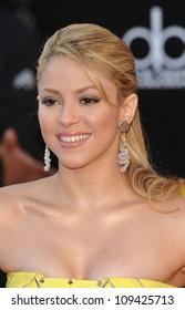 LOS ANGELES, CA - NOVEMBER 22, 2009: Shakira at the 2009 American Music Awards at the Nokia Theatre L.A. Live.
