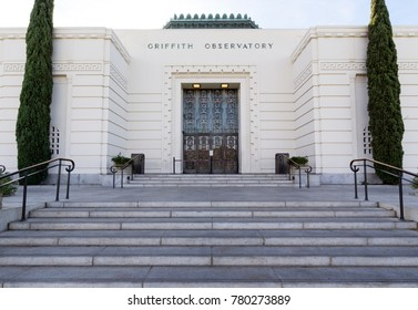 Los Angeles, CA: November 22, 2017: Griffith Park Observatory in the Los Angeles. The Griffith Park Observatory is a popular destination for tourists, with millions visiting each year.