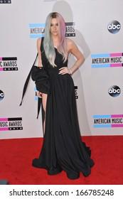 LOS ANGELES, CA - NOVEMBER 24, 2013: Ke$ha at the 2013 American Music Awards at the Nokia Theatre, LA Live.