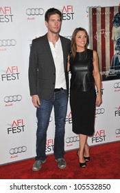 "LOS ANGELES, CA - NOVEMBER 3, 2011: Ryan McPartlin & wife Danielle at the world premiere of his new movie ""J. Edgar"" at Grauman's Chinese Theatre, Hollywood. November 3, 2011  Los Angeles, CA"