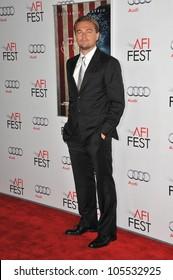 "LOS ANGELES, CA - NOVEMBER 3, 2011: Leonardo DiCaprio at the world premiere of his new movie ""J. Edgar"" at Grauman's Chinese Theatre, Hollywood. November 3, 2011  Los Angeles, CA"