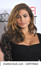 "LOS ANGELES, CA - NOVEMBER 3, 2012: Eva Mendes at the AFI Fest premiere of her movie ""Holy Motors"" at Grauman's Chinese Theatre, Hollywood."