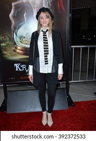 "LOS ANGELES, CA - NOVEMBER 30, 2015: Actress Laura Bilgeri at the Los Angeles premiere of  ""Krampus"" at the Arclight Theatre, Hollywood"