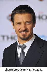 "LOS ANGELES, CA - NOVEMBER 4, 2013: Jeremy Renner at the US premiere of ""Thor: The Dark World"" at the El Capitan Theatre, Hollywood. Picture: Paul Smith / Featureflash"
