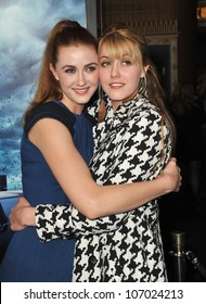 "LOS ANGELES, CA - NOVEMBER 9, 2010: Madeline Zima & sister Yvonne Zima at the world premiere of ""Skyline"" at the Regal Cinema at L.A. Live ."