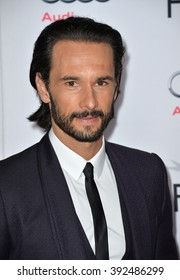 """LOS ANGELES, CA - NOVEMBER 9, 2015: Actor Rodrigo Santoro at the premiere of his movie """"The 33"""", part of the AFI FEST 2015, at the TCL Chinese Theatre"""