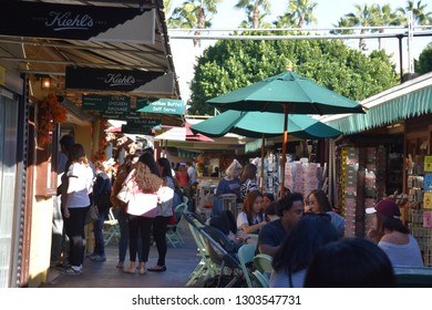 LOS ANGELES, CA - OCT 18: The Original Farmers Market in Los Angeles, California, as seen on Oct 18, 2018. It first opened in July 1934.
