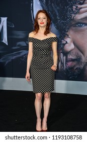 """LOS ANGELES, CA. October 01, 2018: Elizabeth J. Carlisle at the world premiere for """"Venom"""" at the Regency Village Theatre.Picture: Paul Smith/Featureflash"""