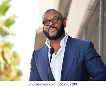 LOS ANGELES, CA. October 01, 2019: Tyler Perry at the Hollywood Walk of Fame Star Ceremony honoring Tyler Perry.Pictures: Paul Smith/Featureflash
