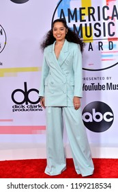 LOS ANGELES, CA. October 09, 2018: Ella Mai  at the 2018 American Music Awards at the Microsoft Theatre LA Live.