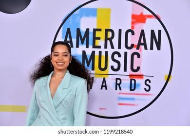 LOS ANGELES, CA. October 09, 2018: Ella Mai  at the 2018 American Music Awards at the Microsoft Theatre LA Live.Picture: Paul Smith/Featureflash