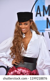 LOS ANGELES, CA. October 09, 2018: Tyra Banks at the 2018 American Music Awards at the Microsoft Theatre LA Live.Picture: Paul Smith/Featureflash