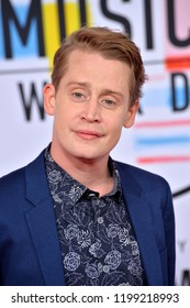 LOS ANGELES, CA. October 09, 2018: Macaulay Culkin  at the 2018 American Music Awards at the Microsoft Theatre LA Live.