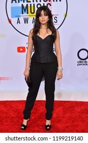 LOS ANGELES, CA. October 09, 2018: Camila Cabello at the 2018 American Music Awards at the Microsoft Theatre LA Live.Picture: Paul Smith/Featureflash