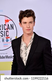 LOS ANGELES, CA. October 09, 2018: Shawn Mendes at the 2018 American Music Awards at the Microsoft Theatre LA Live.Picture: Paul Smith/Featureflash