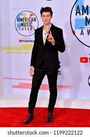 LOS ANGELES, CA. October 09, 2018: Shawn Mendes at the 2018 American Music Awards at the Microsoft Theatre LA Live.