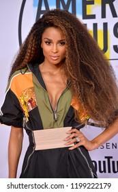 LOS ANGELES, CA. October 09, 2018: Ciara at the 2018 American Music Awards at the Microsoft Theatre LA Live.