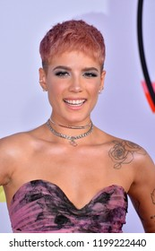 LOS ANGELES, CA. October 09, 2018: Halsey at the 2018 American Music Awards at the Microsoft Theatre LA Live.