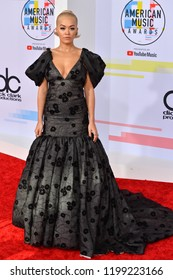 LOS ANGELES, CA. October 09, 2018: Rita Ora at the 2018 American Music Awards at the Microsoft Theatre LA Live.