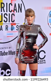 LOS ANGELES, CA. October 09, 2018: Taylor Swift at the 2018 American Music Awards at the Microsoft Theatre LA Live.