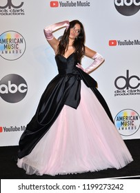 LOS ANGELES, CA. October 09, 2018: Camila Cabello at the 2018 American Music Awards at the Microsoft Theatre LA Live.