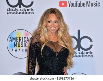 LOS ANGELES, CA. October 09, 2018: Mariah Carey at the 2018 American Music Awards at the Microsoft Theatre LA Live.