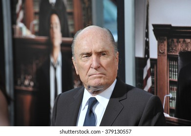 """LOS ANGELES, CA - OCTOBER 1, 2014: Robert Duvall at the Los Angeles premiere of his movie """"The Judge"""" at the Samuel Goldwyn Theatre, Beverly Hills."""