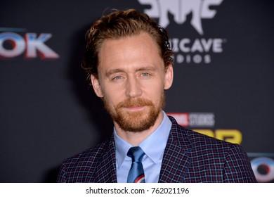 "LOS ANGELES, CA - October 10, 2017: Tom Hiddleston at the premiere for ""Thor: Ragnarok"" at the El Capitan Theatre"