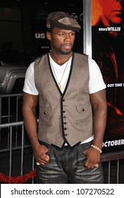 "LOS ANGELES, CA - OCTOBER 11, 2010: Curtis ""50 Cent"" Jackson at the premiere of ""Red"" at Grauman's Chinese Theatre, Hollywood."