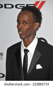 LOS ANGELES, CA - OCTOBER 13, 2013: Barkhad Abdi at the 17th Annual Hollywood Film Awards at the Beverly Hilton Hotel.