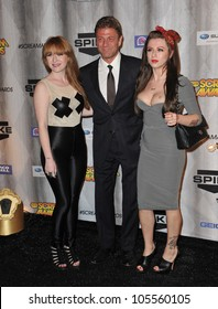 """LOS ANGELES, CA - OCTOBER 15, 2011: """"Game of Thrones"""" star Sean Bean & daughters at the 2011 Spike TV Scream Awards at Universal Studios, Hollywood. October 15, 2011  Los Angeles, CA"""