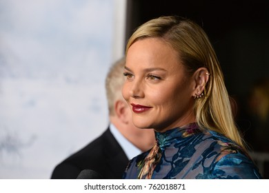 """LOS ANGELES, CA - October 16, 2017: Abbie Cornish at the premiere for """"Geostorm"""" at TCL Chinese Theatre, Hollywood"""