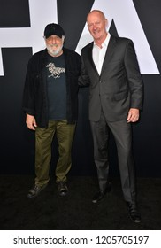 """LOS ANGELES, CA. October 17, 2018: James Jude Courtney & Nick Castle at the premiere for """"Halloween"""" at the TCL Chinese Theatre."""