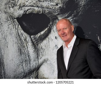 "LOS ANGELES, CA. October 17, 2018: James Jude Courtney at the premiere for ""Halloween"" at the TCL Chinese Theatre."
