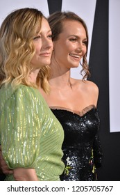 """LOS ANGELES, CA. October 17, 2018: Judy Greer & Andi Matichak at the premiere for """"Halloween"""" at the TCL Chinese Theatre."""