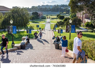 Los Angeles, CA: October 20, 2017: Janss Steps on the UCLA campus. UCLA is a public university in the Los Angeles area.