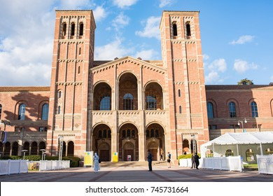 Los Angeles, CA: October 20, 2017: Royce Hall on the UCLA campus. UCLA is a public university in the Los Angeles area.